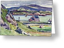 Figure And Kirk   Iona Greeting Card by Francis Campbell Boileau Cadell