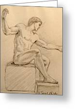 Figure On A Rock Greeting Card by Sarah Parks