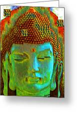 Finding Buddha - Meditation Art By Sharon Cummings Greeting Card by Sharon Cummings