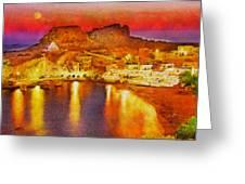 Finiki Karpathos Greeting Card by George Rossidis