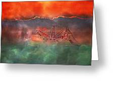 Fire And Ice Misty Morning Greeting Card by Betsy C  Knapp