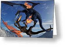 Fire And Ice Greeting Card by Todd and candice Dailey