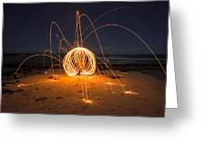 Fire Ball Greeting Card by Tin Lung Chao