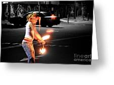 Fire Dance Greeting Card by Alanna DPhoto