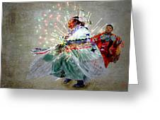fire Dance Greeting Card by Irma BACKELANT GALLERIES