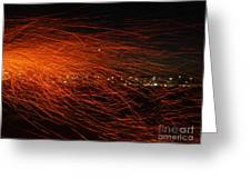 Fire Flakes Greeting Card by Conceptioner Sunny