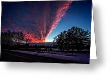 Fire In The Sky Greeting Card by Jerry Mattice