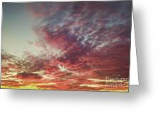 Fire Sky Greeting Card by Holly Martin