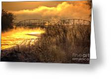 Fire Water Greeting Card by Bob Hislop