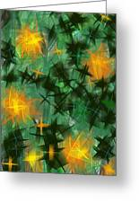 Fireflies Greeting Card by Lena Wilhite