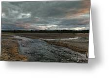 Firehole Lake Drive Sunrise - Yellowstone Np Greeting Card by Sandra Bronstein