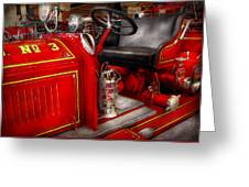 Fireman - Fire Engine No 3 Greeting Card by Mike Savad
