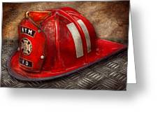 Fireman - Hat - A Childhood Dream Greeting Card by Mike Savad