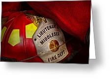 Fireman - Hat - Everyone Loves Red Greeting Card by Mike Savad