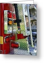 Fireman Keep Back 300 Feet Greeting Card by Paul Ward