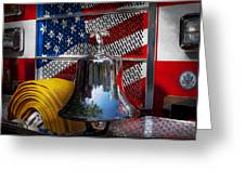 Fireman - Red Hot  Greeting Card by Mike Savad