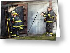 Fireman - Take all fires seriously  Greeting Card by Mike Savad