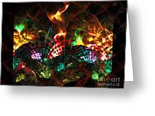 Fireplace Greeting Card by Klara Acel