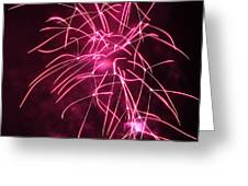 Rockets Red Glare Fireworks Greeting Card by Howard Tenke