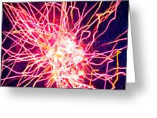 Fireworks At Night 6 Greeting Card by Lanjee Chee
