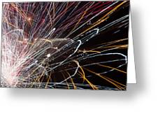 Fireworks Cropped Greeting Card by Carl Clay