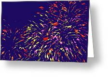 Fireworks Greeting Card by Elizabeth Blair-Nussbaum