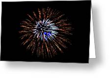 Fireworks Exposion Greeting Card by Gene Walls