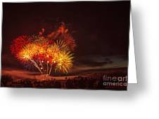 Fireworks Finale Greeting Card by Robert Bales