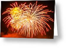 Fireworks Flower Greeting Card by Robert Hebert