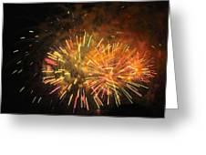 Fireworks IIi Greeting Card by Tiffany Erdman