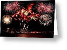Fireworks Over The Delaware Greeting Card by Nick Zelinsky