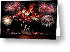 Fireworks Over The Delaware Greeting Card by Nick Zelinsky