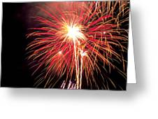Fireworks over Washington DC Greeting Card by Carl Purcell