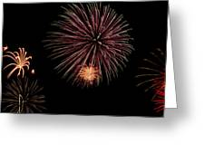Fireworks Panorama Greeting Card by Bill Cannon