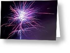Fireworks - Purple Haze Greeting Card by Scott Lyons