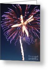Fireworks Series Xii Greeting Card by Suzanne Gaff