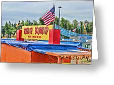 Fireworks Stand Greeting Card by Cathy Anderson