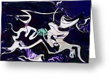 Firmament Cracked #11 Tapestry Of Pain Greeting Card by Mathilde Vhargon