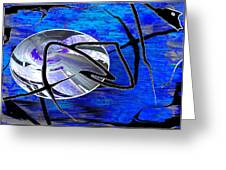 Firmament Cracked #6 - Veneers Greeting Card by Mathilde Vhargon
