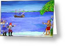 First Encounter Greeting Card by Bill Hubbard