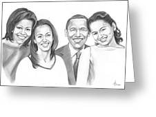 First-family 2013 Greeting Card by Murphy Elliott