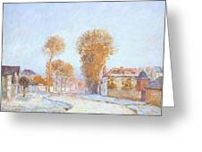 First Frost Greeting Card by Alfred Sisley