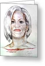 First Lady O Greeting Card by Courtney James