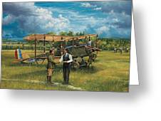 First Landing At Shepherd's Field Greeting Card by Randy Green