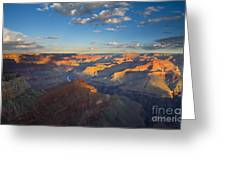 First Light On The Colorado Greeting Card by Mike  Dawson