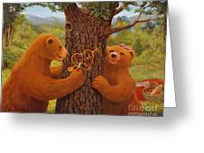 First Love Greeting Card by Charles Fennen