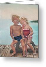 First Love Greeting Card by Leah Wiedemer