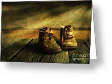 First Shoes Greeting Card by Veikko Suikkanen