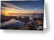 First Sunset Of 2014 Greeting Card by Eddie Yerkish
