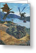 First Wave - Clash At Pyramid Lake Greeting Card by Stu Shepherd